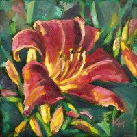 Day lily oil painting by Krista Hasson