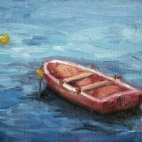Waiting #2 - small daily oil painting