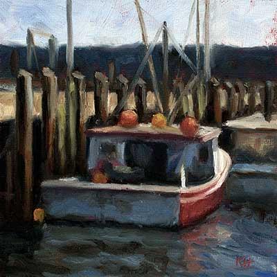 Docked 2 daily oil painting for sale buy original art for Original oil paintings for sale by artist