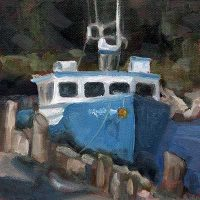 Docked #3 - small daily oil painting
