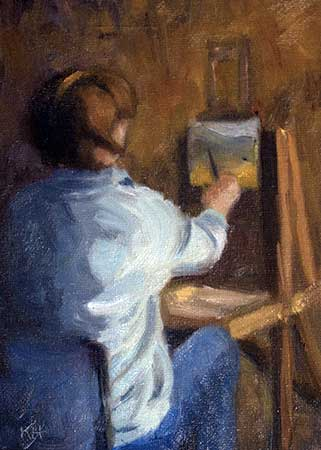 """Dale Painting"" oil 7 x 5"" by Krista Hasson"