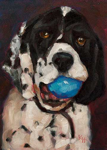 Cocker Spaniel #2 - small daily oil painting