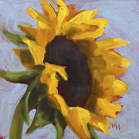Sunflower #5 – Day 5 of 30 in 30 days painting challenge by Krista Hasson