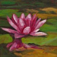 Water Lily #2 - small daily oil