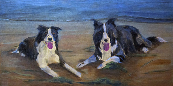 Update - Border Collies on the Beach Oil Commission WIP