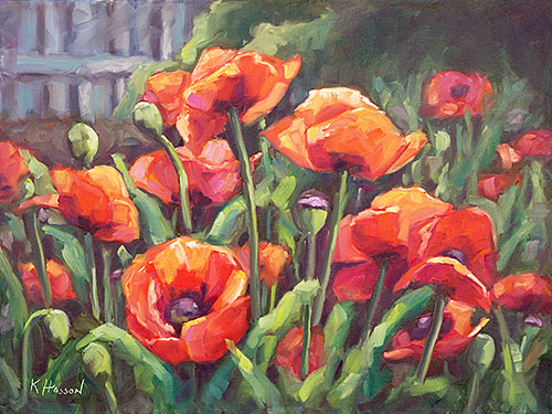 RNS Art show five new oil paintings florals by Krista Hasson