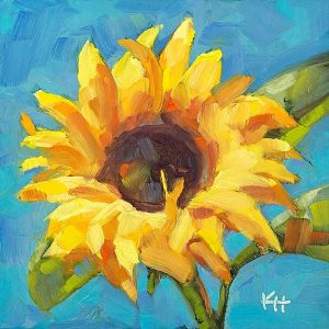 Sunflower 7 oil painting by Krista Hasson