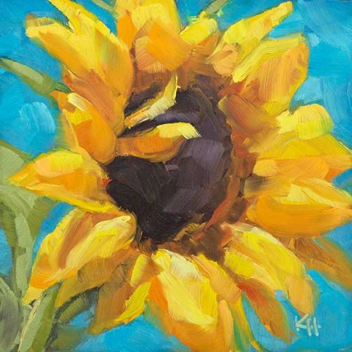 Sunflower 6 oil painting by Krista Hasson