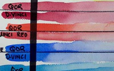 QOR Watercolors vs. DaVinci, M. Graham and Winsor Newton Watercolors