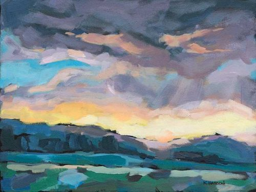 Beauty in the Storm Acrylic painting by Krista Hasson