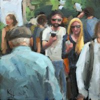 oil painting of disconnected people kristahasson