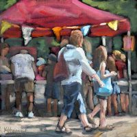 Market oil painting kristahasson