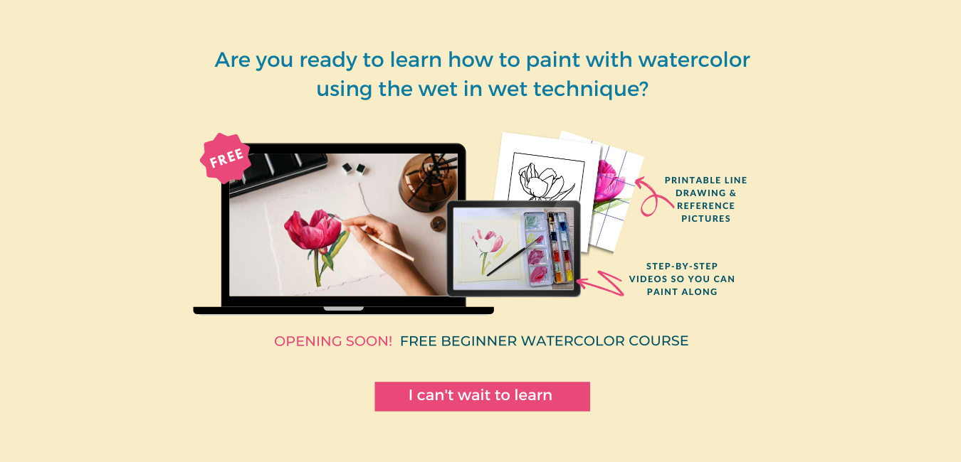 Free easy watercolor painting