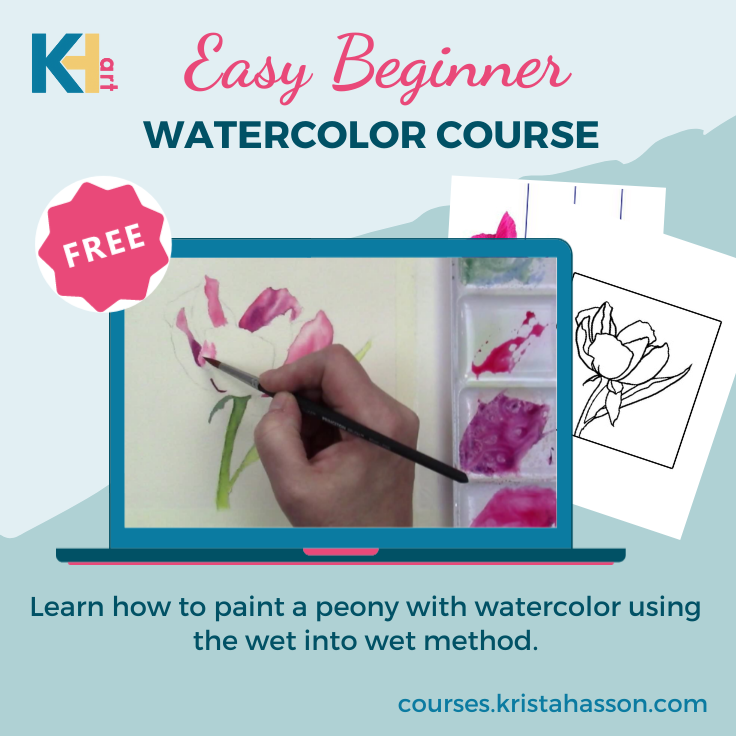 Free beginner watercolor course